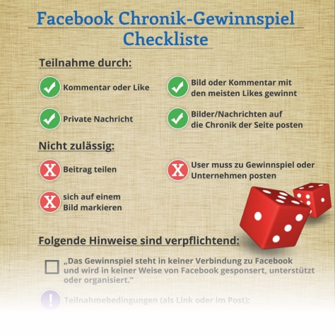 Checkliste für Facebook Gewinnspiele